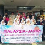 The students and teachers of SMKBBU with the host families.